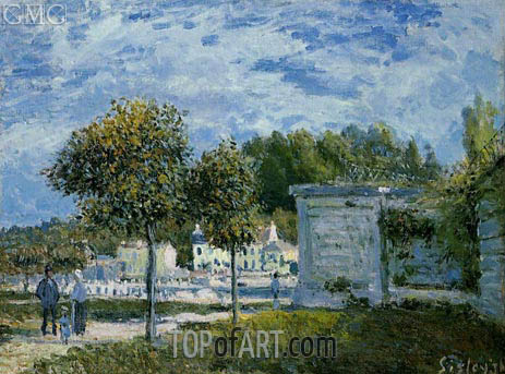 The Watering Place at Marly, 1875   Alfred Sisley   Painting Reproduction