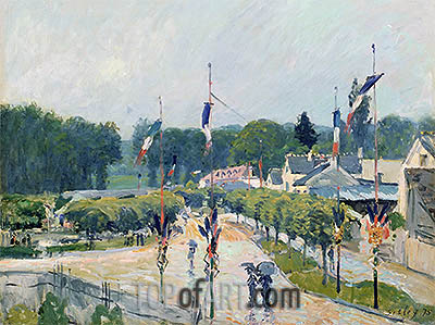Fourteenth of July at Marly-le-Roi, 1875 | Alfred Sisley | Painting Reproduction