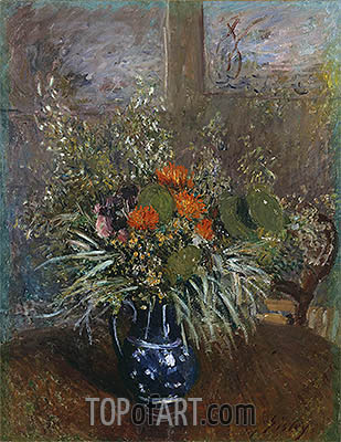 Still Life of Wild Flowers, 1875 | Alfred Sisley | Painting Reproduction