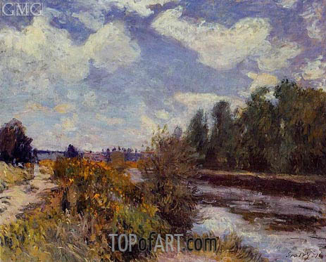The Seine at Bougival, 1876 | Alfred Sisley | Gemälde Reproduktion