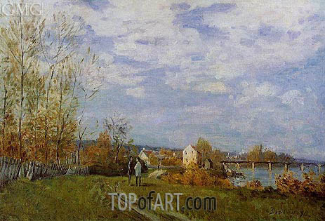 The Banks of the Saine at Bougival, 1876 | Alfred Sisley | Gemälde Reproduktion