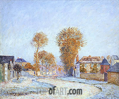 The First White Frost, 1876 | Alfred Sisley | Gemälde Reproduktion