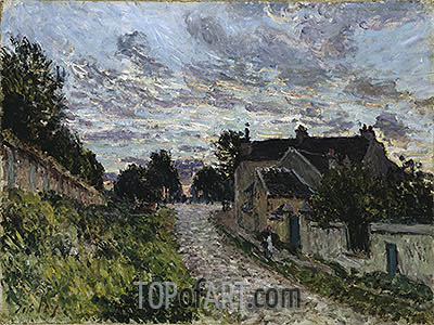 A Small Street in Louveciennes, 1876   Alfred Sisley   Painting Reproduction