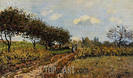 The Path in the Country, 1876 | Alfred Sisley | Painting Reproduction