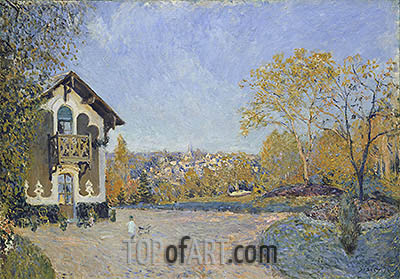 View of Marly-le-Roi from Coeur-Volant, 1876   Alfred Sisley   Painting Reproduction