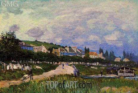 The Laundry, 1876 | Alfred Sisley | Painting Reproduction