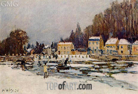 The Blocked Seine at Port-Marly, 1876   Alfred Sisley   Painting Reproduction