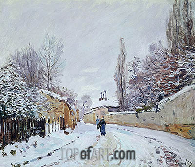 Road under Snow, Louveciennes, c.1876 | Alfred Sisley | Painting Reproduction