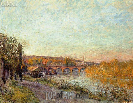 The Sevres Bridge, 1877 | Alfred Sisley | Painting Reproduction