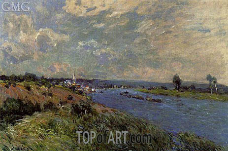 The Seine at Saint-Cloud, 1877 | Alfred Sisley | Painting Reproduction