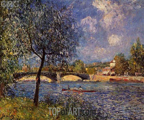 Rowers, 1877 | Alfred Sisley | Painting Reproduction