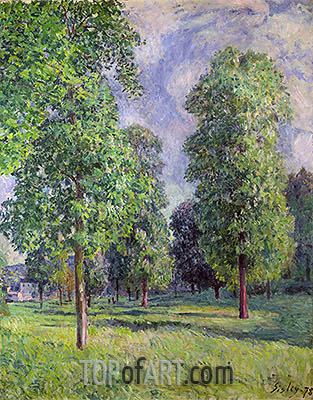 Landscape at Sevres, 1878 | Alfred Sisley | Painting Reproduction