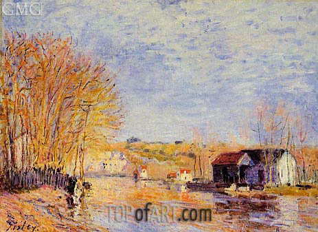 High Waters at Moret-sur-Loing, 1879 | Alfred Sisley | Painting Reproduction