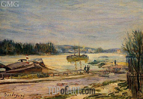 The Saine near Saint-Cloud, High Water, 1879   Alfred Sisley   Painting Reproduction