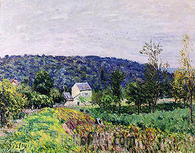 Autumn Evening on the Outskirts of Paris, 1879   Alfred Sisley   Painting Reproduction