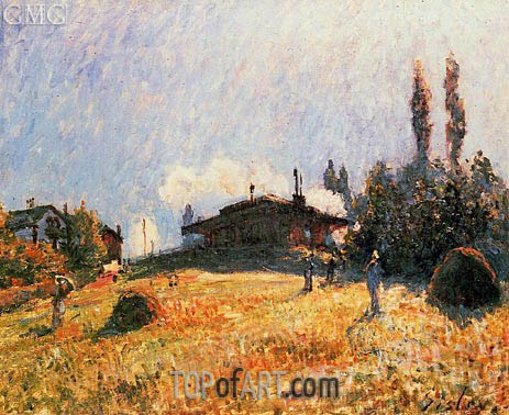 The Station at Sevres, c.1879 | Alfred Sisley | Painting Reproduction