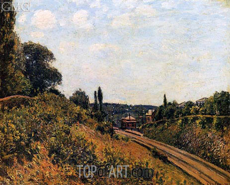 The Station at Sevres, 1879 | Alfred Sisley | Painting Reproduction