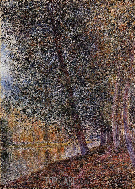 The Banks of the Loing, Autumn, 1880 | Alfred Sisley | Painting Reproduction
