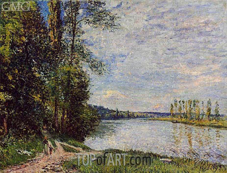 The Riverside Road from Veneux to Thomery, 1880   Alfred Sisley   Painting Reproduction