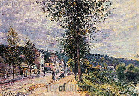 Street Entering the Village, 1880   Alfred Sisley   Painting Reproduction