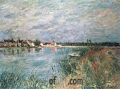 The River Banks at Saint-Mammes, 1880 | Alfred Sisley | Painting Reproduction