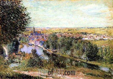 View of Moret, 1880 | Alfred Sisley | Painting Reproduction