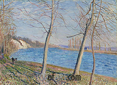 The Banks of the River at Veneux, 1881 | Alfred Sisley | Painting Reproduction