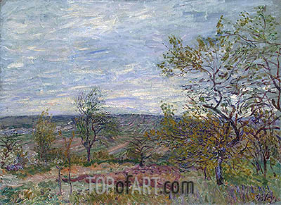 Windy Day at Veneux, 1882   Alfred Sisley   Painting Reproduction