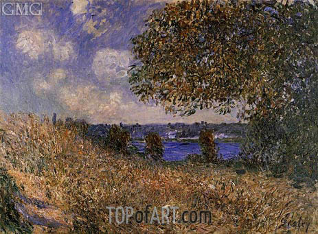 Near the Banks of the Seine at By, 1882 | Alfred Sisley | Gemälde Reproduktion