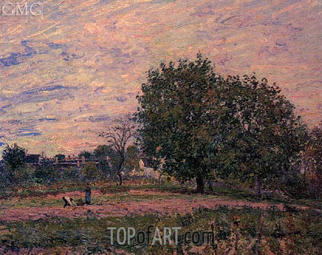 Walnut Trees, Sunset - Early Days of October, 1882 | Alfred Sisley | Gemälde Reproduktion