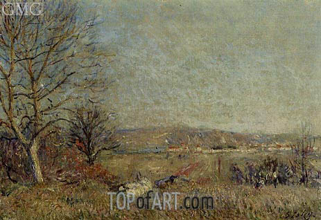 The Plain of Veneux, View of Sablons, 1884 | Alfred Sisley | Gemälde Reproduktion