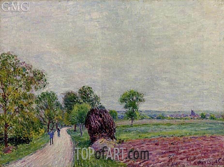 The Countryside near Moret, 1885 | Alfred Sisley | Painting Reproduction