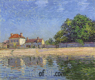 Banks of the Loing, Saint-Mammes, 1885 | Alfred Sisley | Painting Reproduction