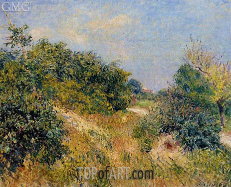 The Edge of the Fontainbleau Forest - June Morning, 1885 | Alfred Sisley | Gemälde Reproduktion