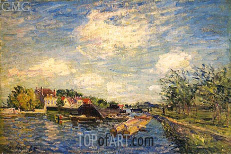 By the Loing, 1885 | Alfred Sisley | Gemälde Reproduktion