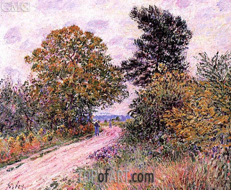 The Edge of the Fontainbleau Forest - Morning, c.1885 | Alfred Sisley | Gemälde Reproduktion