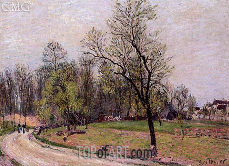 The Edge of the Forest in Spring, Evening, 1886 | Alfred Sisley | Painting Reproduction