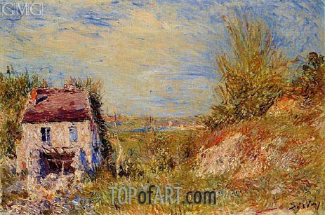 The Abandoned House, c.1886 | Alfred Sisley | Gemälde Reproduktion
