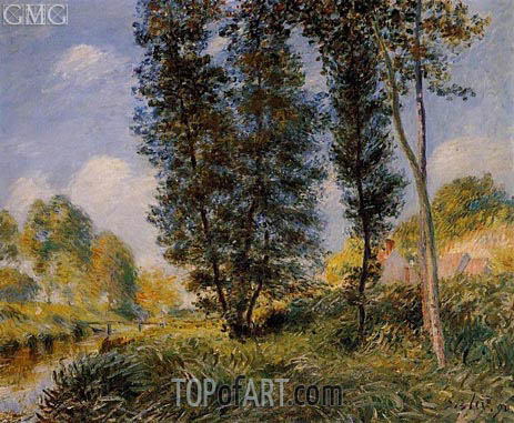 The Banks of the Orvanne, 1890 | Alfred Sisley | Gemälde Reproduktion