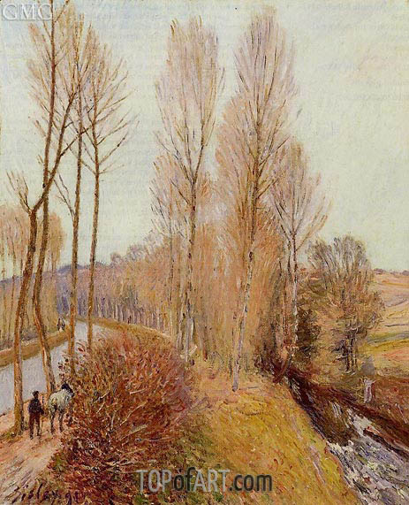 Path along the Loing Canal, 1891 | Alfred Sisley | Gemälde Reproduktion