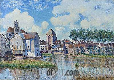 Moret-sur-Loing, 1891 | Alfred Sisley | Painting Reproduction