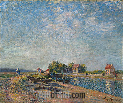 Saint-Mammès, Canal du Loing, 1885 | Alfred Sisley | Painting Reproduction