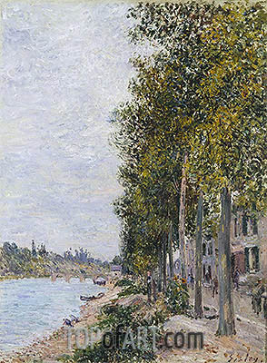 Road Along the Seine at Saint-Mammes, c.1880 | Alfred Sisley | Gemälde Reproduktion