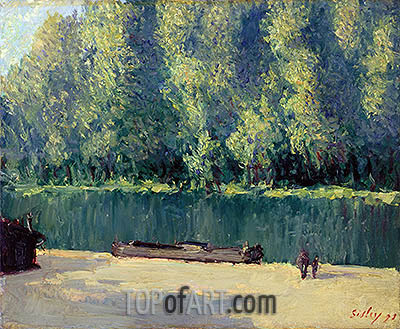 Banks of the Loing, 1891 | Alfred Sisley | Gemälde Reproduktion