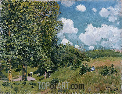The Road from Versailles to Saint-Germain, 1875 | Alfred Sisley | Painting Reproduction