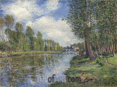 Banks of the Loing River, 1885 | Alfred Sisley | Gemälde Reproduktion