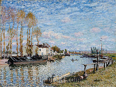 The Loing at Saint-Mammès, 1882 | Alfred Sisley | Gemälde Reproduktion