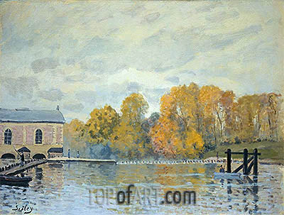 Waterworks at Marly, c.1876 | Alfred Sisley | Gemälde Reproduktion