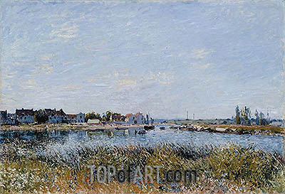 Saint-Mammès: Morning, 1881 | Alfred Sisley | Painting Reproduction
