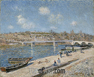 The Beach at Saint-Mammès, 1884 | Alfred Sisley | Painting Reproduction